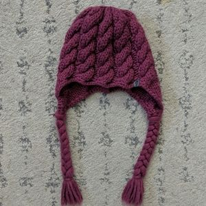 North Face girls woven hat